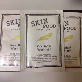 Sample Skinfood Rice Mask Wash Off