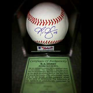 R.A. Dickey Signed Official MLB Baseball
