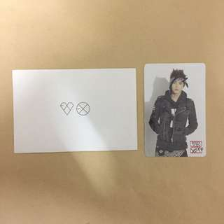 EXO Suho Official Photocard From Stationary Set With Envelope