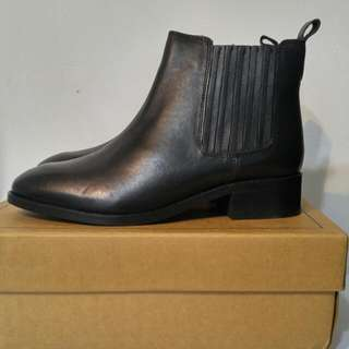 Genuine Leather Black Boots