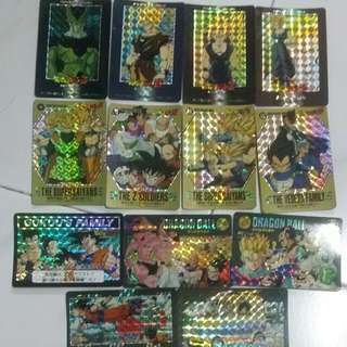 DragonBall Z Vintage Collectable Cards. (Prism And Normal Bundle for Bidding) PP+Power Level+Carddass