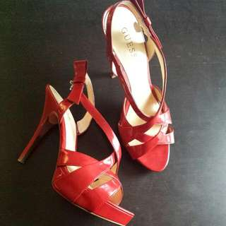 Womens Guess Size 8 Red High Heels