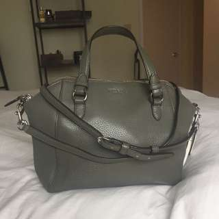 Coach Leather Parker Mini Satchel in Olive