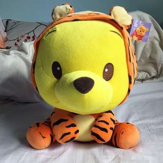 Winnie The Pooh In Tiger Outfit Plushie