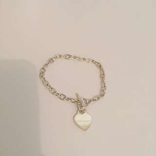 Sterling Silver Heart Bracket