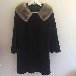 Perisan Wool & Mink Coat