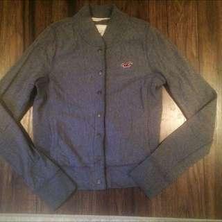 Hollister Grey Button-up Sweater
