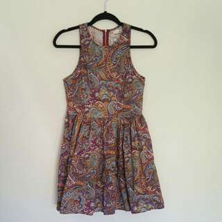Mika And Galaxy Paisley Dress AS NEW Size10