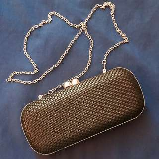 Black Parfois Clutch Bag