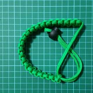 Paracord Wrist Strap Green