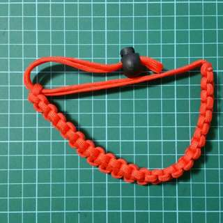 Paracord Wrist Strap Red
