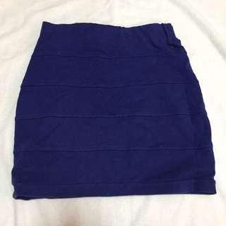 Blue Pencil Skirt