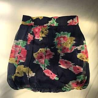 Floral Bubble Skirt- Size 6