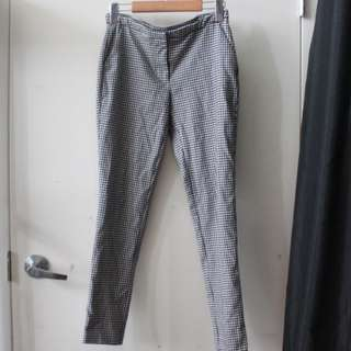 Houndstooth Cigarette Office Pants