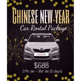 Car for rent (CNY package)