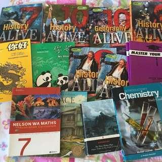 A Bunch Of High school Textbooks