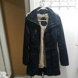 TNA Long Fleece Lined Military Style Jacket