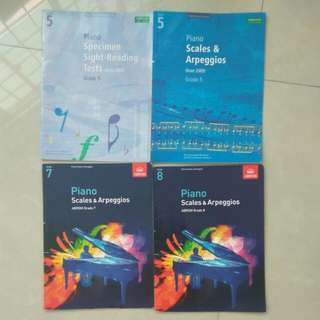 Abrsm Piano Books For Sale -  Scales And Arpeggios And Sight Readings