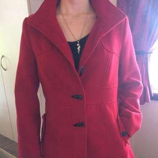 Red Felt Winter Coat