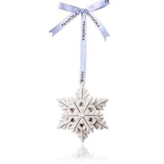 潘朵拉冬季限定版雪花掛飾