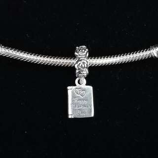 "PERFECT VALENTINES GIFT · Authentic PANDORA charm - ""Be My Valentine Book"""