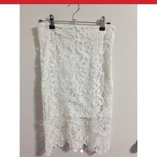 Beautiful White Lace Skirt
