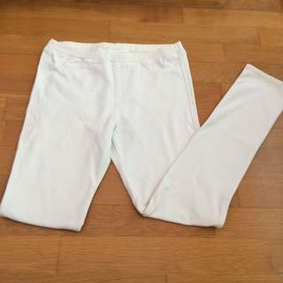 Uniqlo Kids/Teens White Pants (Comfy)