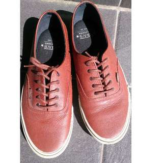 Vans red leather shoes (US size 11)