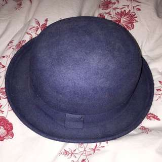 Blue Bowlers Hat
