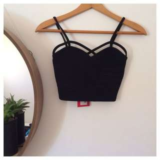 Strappy front bralet BOOHOO