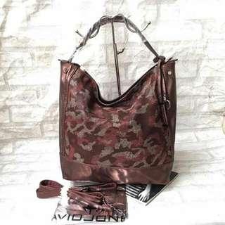 Authentic David Jones Bucket bag With Camouflage Designed Color: Brick Red  Payments Thru BPI / Cebuana  Contact Person: Hazel Cruz Contact No: 09420342319