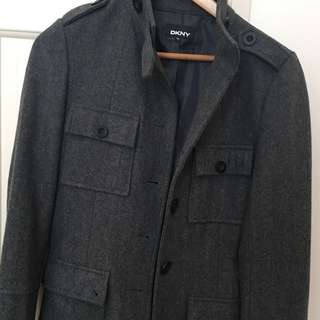DKNY Men's Grey Jacket, Size S