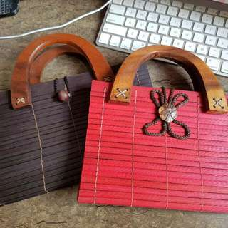 BRAND New Wooden Bags