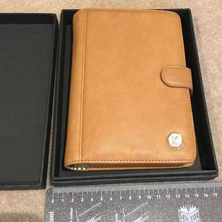 *NEW & BOXED Kikki K Tan Leather Planner/organiser