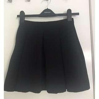 Topshop Pleated Skater Skirt - Size 6