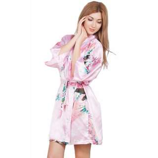 Japanese Cherryblossom & Phoenix Night Gown