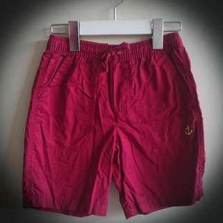 女童專櫃紅色短褲