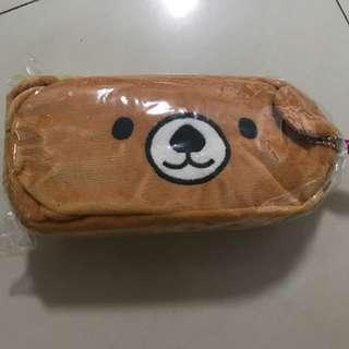 BNIP Bear Pencil Case And Pencil Holder Goodie Bag