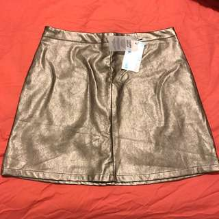 Pewter A Line skirt
