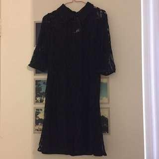 New Lace Black Dress (S)