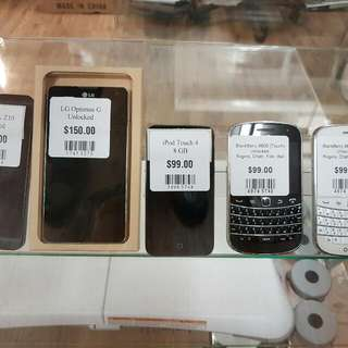 iPhone, Samsung, LG, Blackberry, iPad
