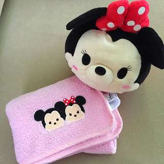 Disney Minnie Mouse Towel in Tsum Plush Toy [In Stock]