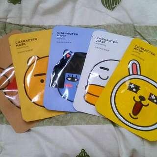 The Face Shop Character Mask KakaoTalk (Masker Wajah)