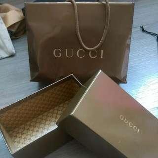 aig~Gucci眼鏡空盒含包裝提袋