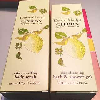 Crabtree & Evelyn Citron Bodyscub & Bath Shower Gel