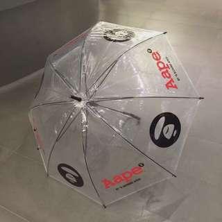 Aape 透明長遮 雨傘