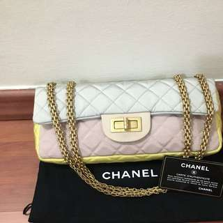 Chanel Tri Colour Satin Reissue Gold Hardware