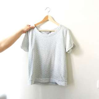Cropped Grey Summer Top