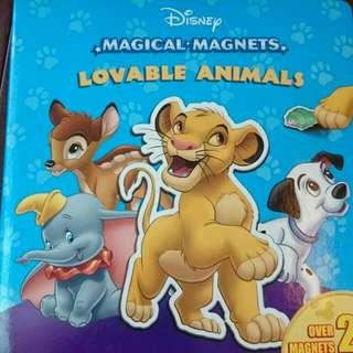 🚚 迪士尼英文磁鐵書