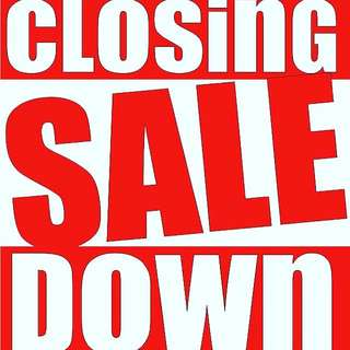 CLOSING DOWN SALE!!!
